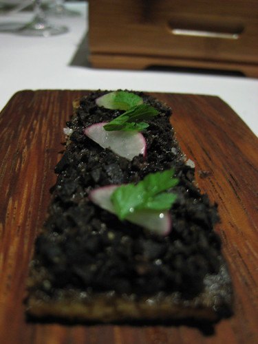 Oak moss and truffle toast