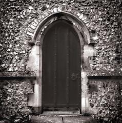 Church Side Door (Bavid Dailey) Tags: door detail 120 film church st long exposure andrews side 64 medium format 100 50 flint f11 essex fp4 seconds priests rated halstead