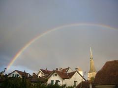 Arc-en-ciel et tours (najbo) Tags: ciel arcenciel mto neuveville