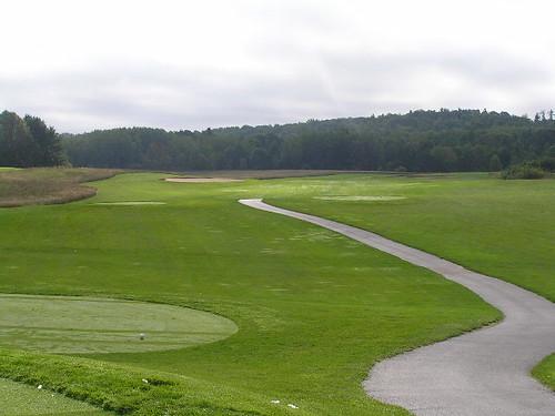 1st hole, Heathlands Golf Course, Onekama, Michigan
