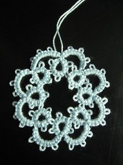 tatting medallion (ccyytt) Tags: blue thread handmade crafts cotton tatting needletatting
