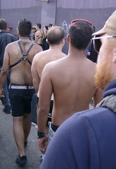 Folsom Street Fair 2007 (sftrajan) Tags: sanfrancisco shirtless barechested soma harness folsomstreetfair 2007 folsomstreet folsomfair nakedtothewaist strippedtothewaist baretothewaist folsomstreetfair2007