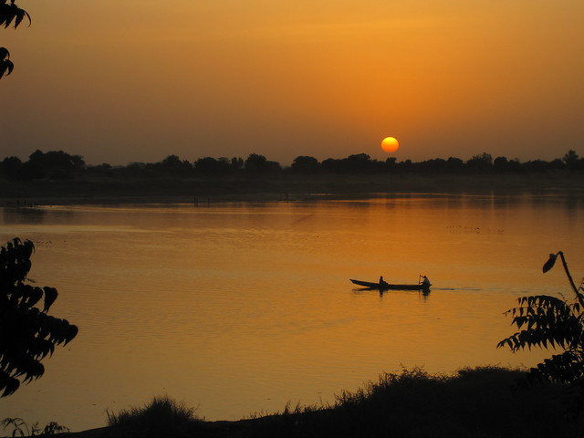 Sunset over the River Chari 2