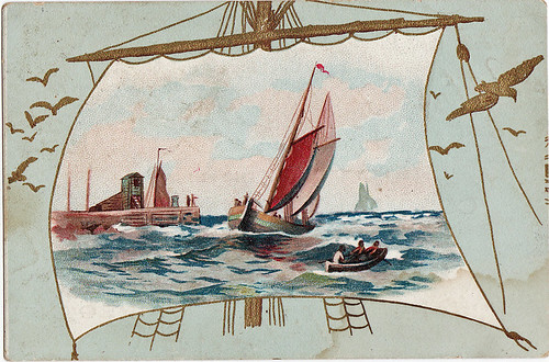 sailboat trade card