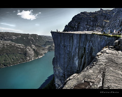 It's A Long Way To The Top (If You Wanna Rock 'n' Roll) (PetterPhoto) Tags: norway rock acdc spectacular nikon view nikkor pulpit hdr breathtaking preikestolen prekestolen lysefjorden 1024 concordians itsalongwaytothetop d300s petterphoto