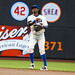 Jose Reyes Throws to first