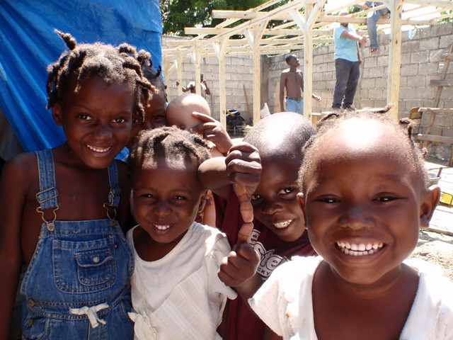 A few of the kids who now attend school at the classroom weve built by EDV Media Director