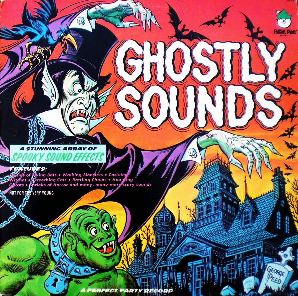 Ghostly Sounds Peter Pan Records front cover