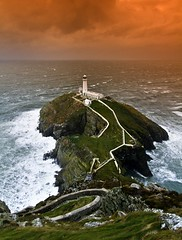 Ynys Lawd (i.m.j.) Tags: sea lighthouse seascape water wales clouds landscape island coast waves wind cymru wideangle stormy anglesey ynysmn arfordir tirlun efs1022mm13545usm canon7d