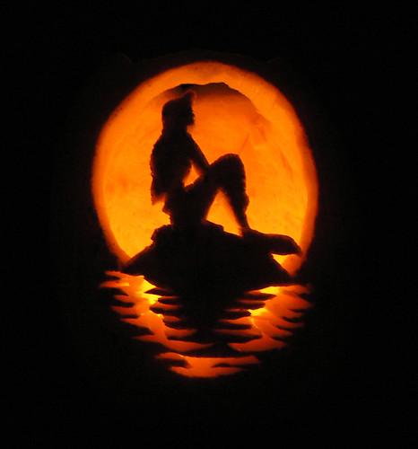 Ariel pumpkin stencil | halloween in 2018 | pinterest | pumpkin.