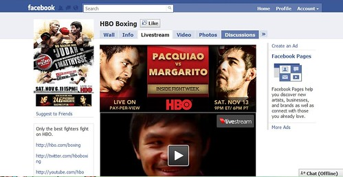 HBO Boxing Facebook page