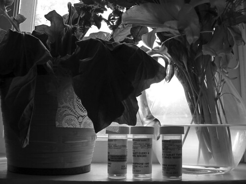pills and flowers