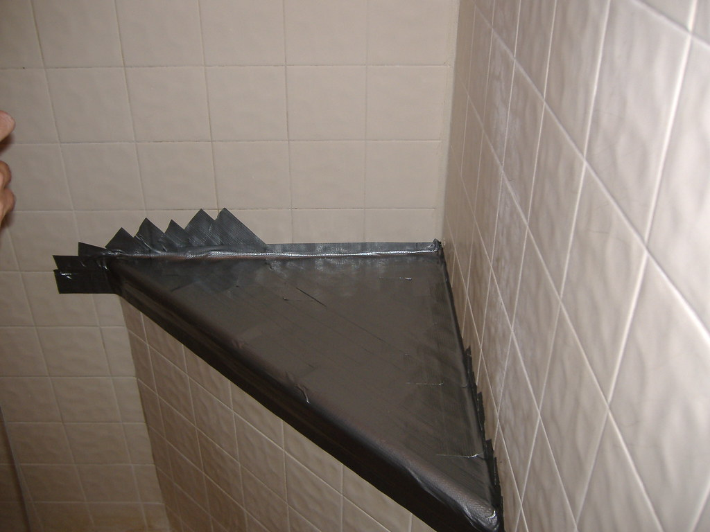 Shower repair with Duct Tape