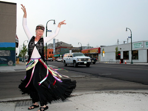 Tamara Rogers dancing on Lake Street