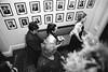 black bridesmaid style wedding photo