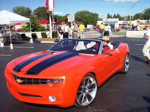 Steve Brandon in a Chevy Camaro concept car... by Steve Brandon.