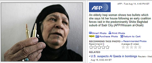 Iraqi woman with cartridges