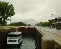 Soo Locks with boat (wintorbos) Tags: saultstemarie algoma soolocks