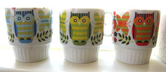 Owl Cups (Katey Nicosia) Tags: japan vintage mugs cups owl