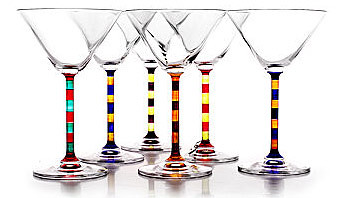 CAPRI MARTINI SET | Capri Martini Set of Two Tone Stemmed Glasses for Fun, Classy Cosmos and Beautiful, Elegant Dinner Parties | UncommonGoods :  capri martini set stemmed fun glassware