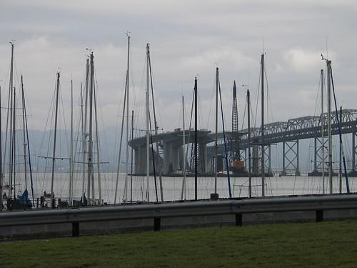 Bau der neuen Oakland Bay Bridge