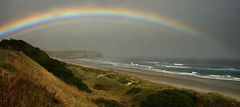 Rainbow at Close Range (_setev) Tags: light newzealand color colour beach water beautiful island coast rainbow close near south double stephen dunedin seashore murphy encounter downunder proximity setev utatabythesea downunderphotos stephenmurphy utata:project=utatabythesea excapture httpdownunderphotosblogspotcom