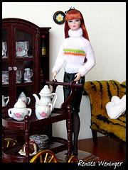 ch (* Rezinha *) Tags: toy toys tricot doll furniture barbie knit cybershot gloria boneca fashiondoll cenrio diorama miniatura dollhouse tric h5 silkstone