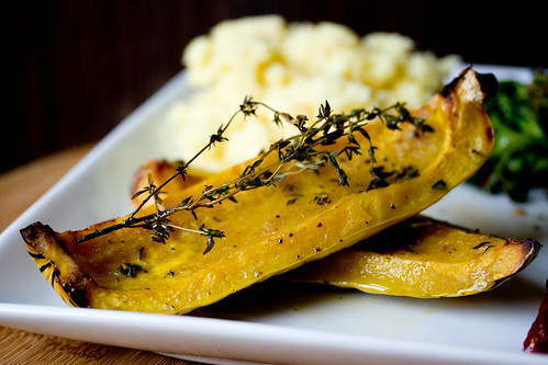Roasted Delicata Squash with Thyme