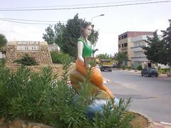 Sirene à l'entrée du village