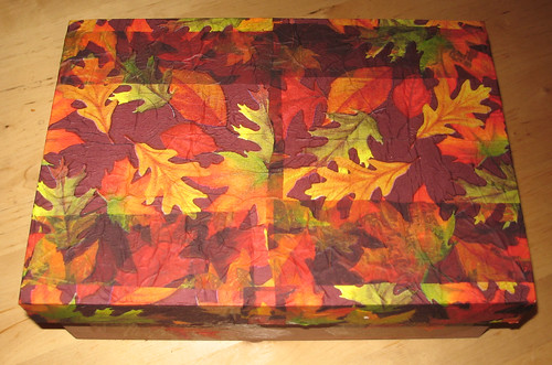 Fall Nature Table Box