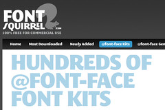 Font Squirrel web page