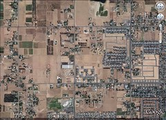 haphazard sprawl near Fresno (via Google Earth)