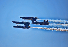 Blue Angels (Greg Foster Photography) Tags: plane airplane insane crazy fighter upsidedown aviation navy formation airshow hornet boeing tight blueangels arb stunt stunts aerobatics fa18 dobbins wingsoveratlanta