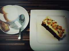 Carrot cake, Room With A View Cafe