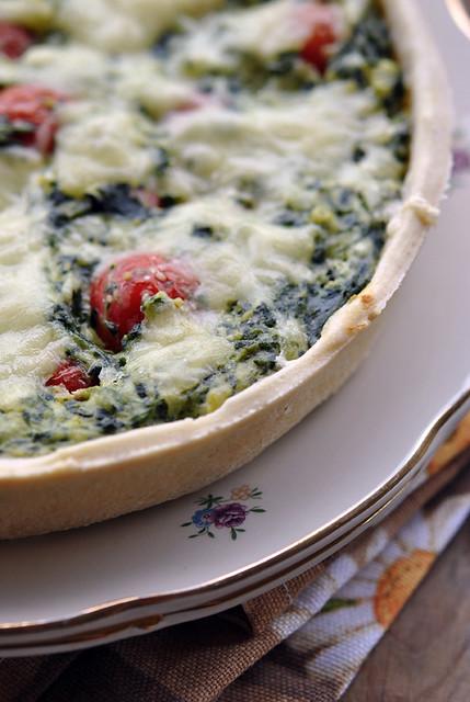 1.Torta spinaci e pomodorini