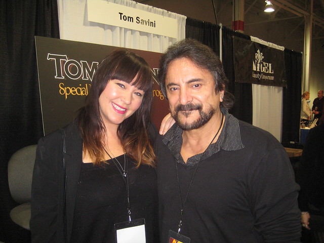 with Tom Savini at IMATS Toronto