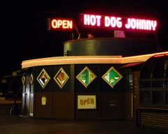 Hot Dog Johnny's (wxkeith) Tags: restaurant newjersey neon open hotdogs roadfood buttzville hotdogjohnny