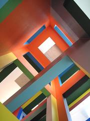 Colourful lines (Evelien Gerrits) Tags: abstract colour lines architecture canon utrecht architectuur gerrits canondigitalixus dickbrunahuis eveliengerrits