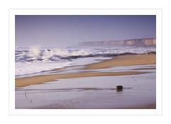 Homesick (Creann Pieroni) Tags: ocean california santa county sky cliff beach rock wall sand surf pacific barbara lompoc