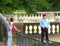 PARIGI - Luxembourg (gabrilu) Tags: people paris france gardens garden europe security luxembourg parigi securit