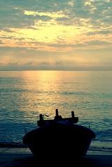 great view (rizalgeo) Tags: cloud holiday june composition sunrise nikon flickr mood resort malaysia fishingboat terengganu 2007 dungun 18135 d80 visitmalaysiayear tanjungjara rizalgeo
