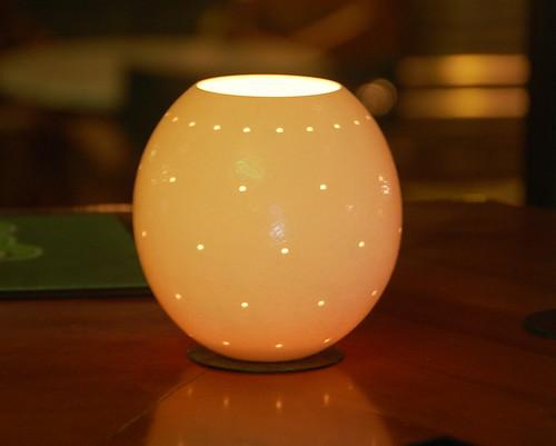 Ostrich Shell Lamp