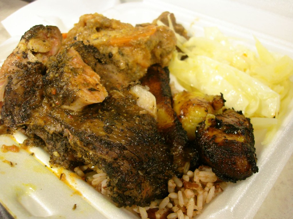 Jerk Chicken/Sweet & Sour Chicken Combo, The Jamaican Dutchy, Midtown NYC