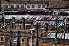 White Bay Power Station Brick Detail (alexkess) Tags: bridge urban white clouds buildings bay nikon industrial harbour bricks sydney australia nsw d200 hdr balmain lightroom photomatix 5xp streaet