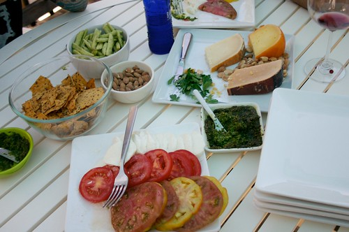 appetizers on the patio- happy fathers day!
