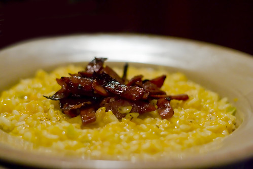 Butternut Pumpkin Risotto with Chorizo flakes
