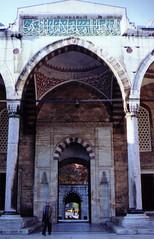 View through the portals (stevesheriw) Tags: istanbul turkey blue mosque türkiye byzantium constantinople bluemosque sultanahmedmosque sultanahmetcamii 1616 imperial ottoman architecture islam courtyard unesco worldheritagesite nikon fm10 manual