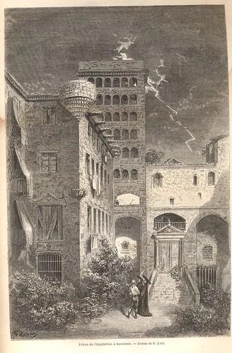 Plaça del Rei - Gravat 1862