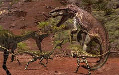 walking with dinosaurs 1999 postosuchus and coelophysis pack