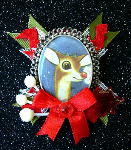 Fancy Rudolph Brooch
